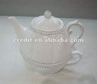 2012 New Design White Ceramic Tea pot