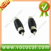 2 pcs Male-Male RCA Connector, In-Line Splice Adapter