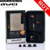 Awei ES-Q5 Noise Cancelling earbud headphone in ear earphone fashion style earphones