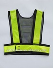 safety mesh police vest with snap and reflective tape