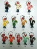Synthetic resin keychains