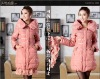 Free shipping 2012 autumn&winter fashion women's slim lace down coat jacket medium-long thickening parkas F005
