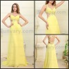 Sexy Yellow Long Evening Dresses Woman Prom Dresses Formal Party Dresses