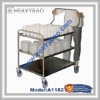 3 shelves Heavy Duty Stainless Steel General Purpose Trolley with ergonomic handle
