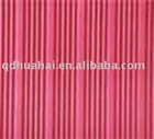 Red fine ribbed rubber sheet