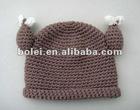 Cute infant / baby beanie hat knitting pattern
