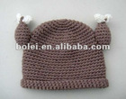 Cute infant / baby beanie hat knitting pattern