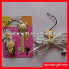 Cartoon design silicone rubber earphone bobbin winder
