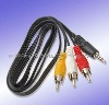 3.5mm to 3RCA One in three AV cable, Video output cable, Audio Video Cable