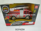 new plastic battery operate toy fire truck with light and music OC0142254