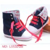 baby ankle shoes, dark blue cloth shoes