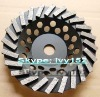7'' Diamond Turbo grinding cup wheel in abrasive tools for Terrazzo/Concrete/Engineered Stone