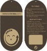 High-quality smile hangtag for garments