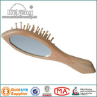 Multiduty Wooden Hair Brush with Mirror