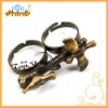 D00743o Hot Sale Antique Unique Two Finger Ring