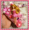 Elegant Cutest Lovely Doll Theme Superior Crystals Wallet Clutch Bling Unique Pink Theme