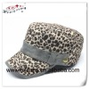 Leopard design custom wholesale flat cap