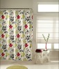 Regis ruby printed polyester duck fabric shower curtain