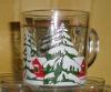 Christmas gifts glass mug gift