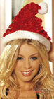 Shirred Velvet Santa Hat