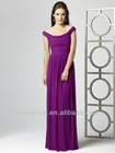 Ever Pretty Elegant Off shoulder Long Chiffon Crystal Maxi Bridesmaid Dress