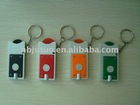Led keychain light with coin holder