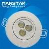 Triac dimming LED recessed downlight 3w