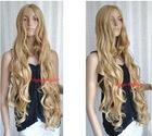 "35"" Long Golden Blonde Spiral Wavy Cosplay Blonde Hair Weave"