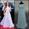 N095 Free shipping Real sample Kate Middleton princess 2012 red carpet celebrity dress