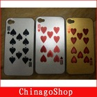Colourful Fashion poker design hard case for iphone 4G
