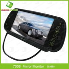 480*234 Russian 7'' TFT LCD Color Screen Car Monitor Rearview Mirror Camera