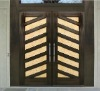 Mahogany hotel wooden glass door