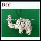 Fabric animal button eyes craft cutemobile phone chain