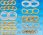 Latest Twist Top Sellimg Decorative Aluminum chains jewelry findings