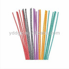 """20 Striped Pipe Cleaners Chenille Stem Red Yellow Green Orange Black 12"""" x 4mm"""
