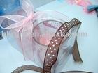 solid or printed organza ribbon