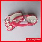 Foot customer shape 3D rubber pvc U disk/4GB disk