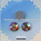 Hotsales ss20 glue on rhinestone with topaz AB color