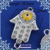 silver color palm shaped shambala bracelet accessories