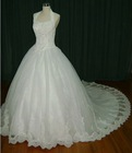 classical appliques wedding dress cls-010