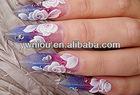 500 WHITE pyramid nail art tips
