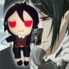 Kuroshitsuji plush toy(Sebastian red eyes)