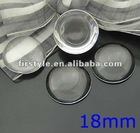 18mm Clear Glass Cabochons Domed Magnifying Round for Photo Jewelry Pendant Inserts