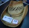western straw Cowboy Hat frayed edge