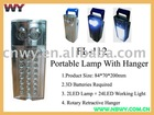 24+2 LED Portable Lamp with Hanger