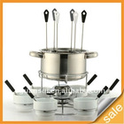 stainless steel fondue set 22 pcs with forks(GS-F014)