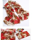 women's fahison printed silk scarf