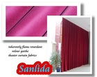 100% polyester flame retardant velour fabric for theater curtain