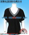 95% Modal,5% lycra special V neck amazing lady's t-shirts