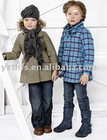 2011 newest boy's fashion good quality yarn dyed stripe coat